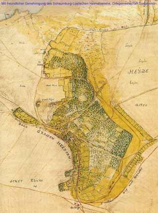 Karte von Großenheidorn 1768
